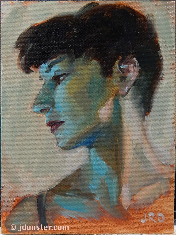"""Blue Shadows"" original fine art by J. Dunster"