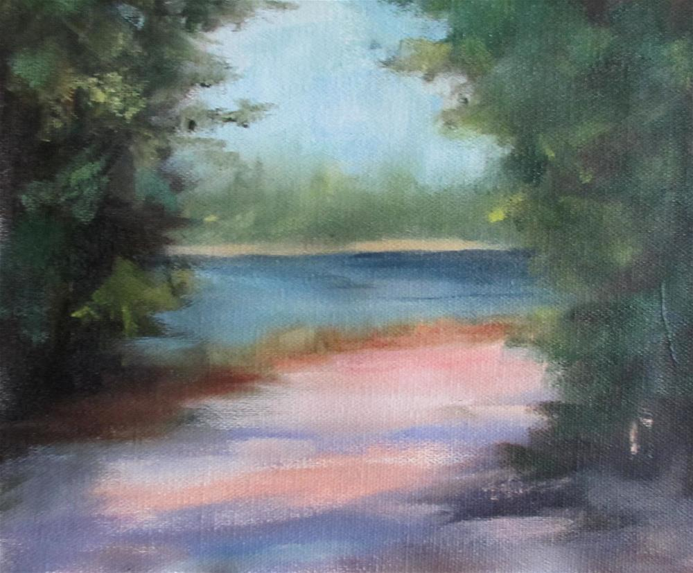 """The Peaceful Path"" original fine art by Linda Carney"
