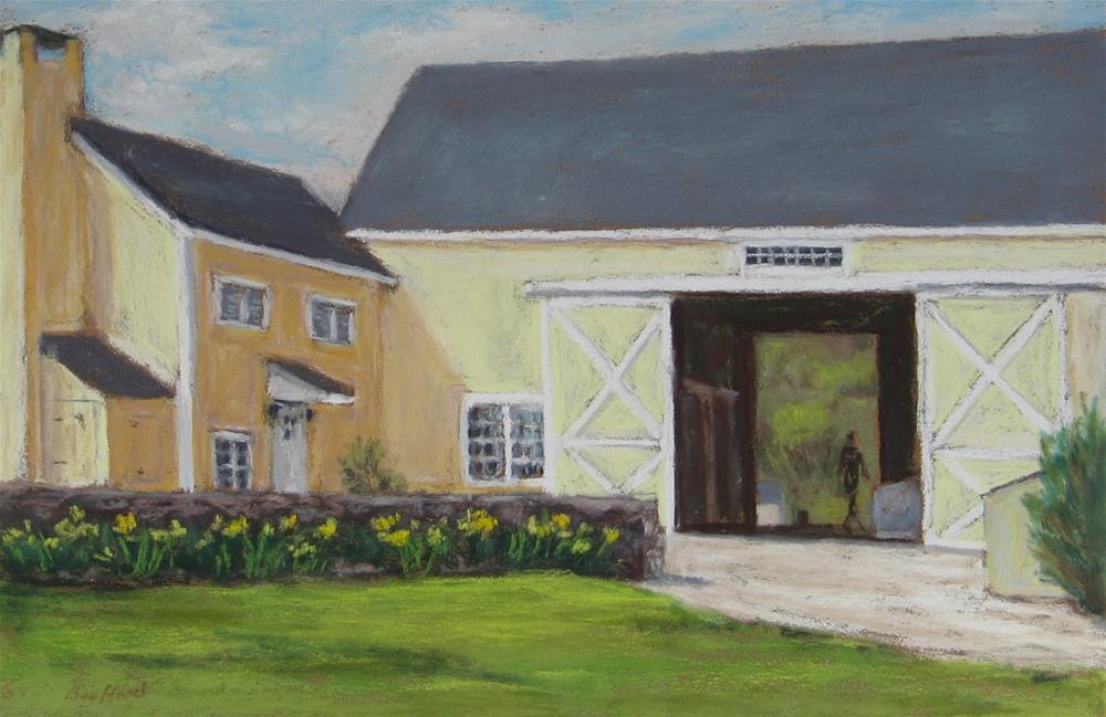 """""""Spring Chores"""" original fine art by Vikki Bouffard"""