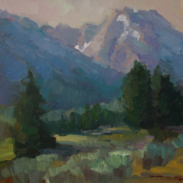 """Mt. Moran - SOLD"" original fine art by Kathryn Townsend"