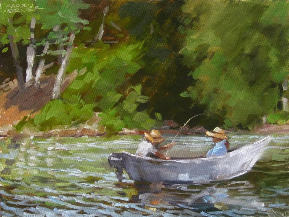 """Fishing"" original fine art by Karen Werner"