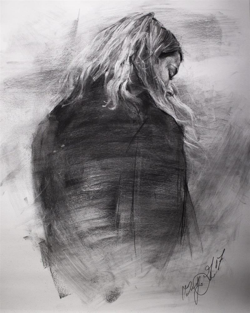 """Into the Cold No. 1.2"" original fine art by Dimitriy Gritsenko"