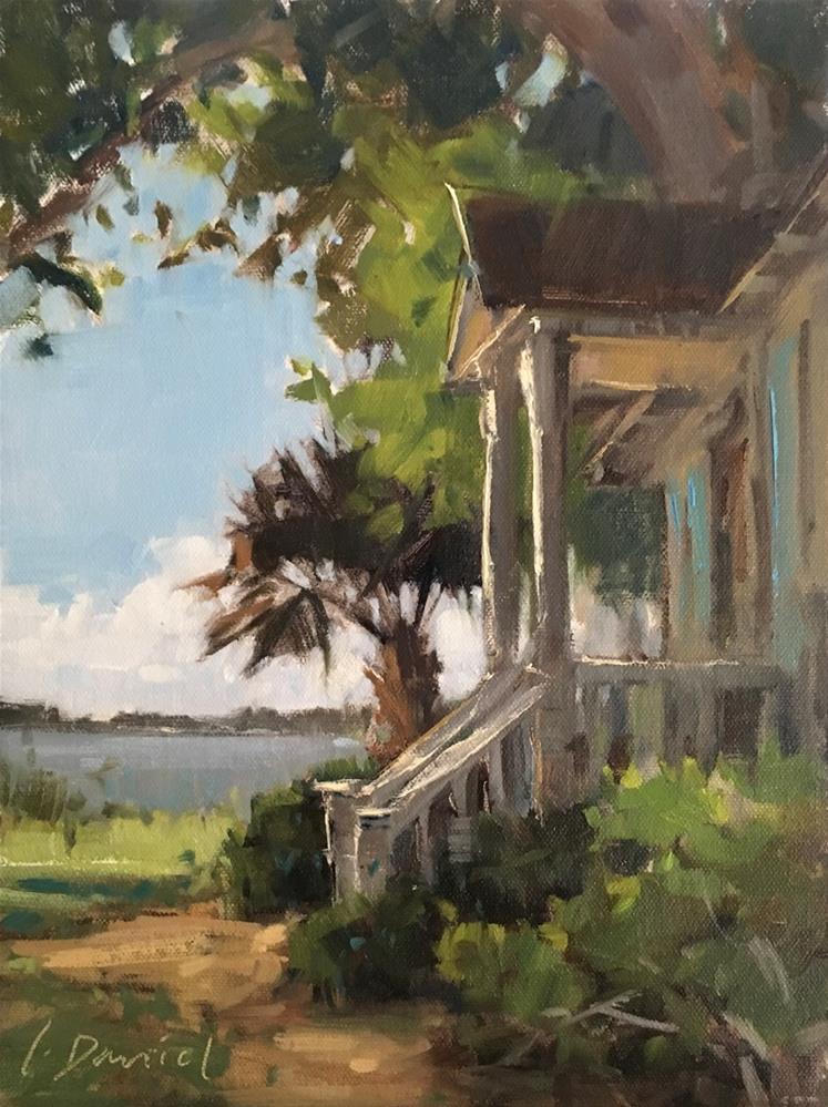 """""""Cottage View"""" original fine art by Laurel Daniel"""