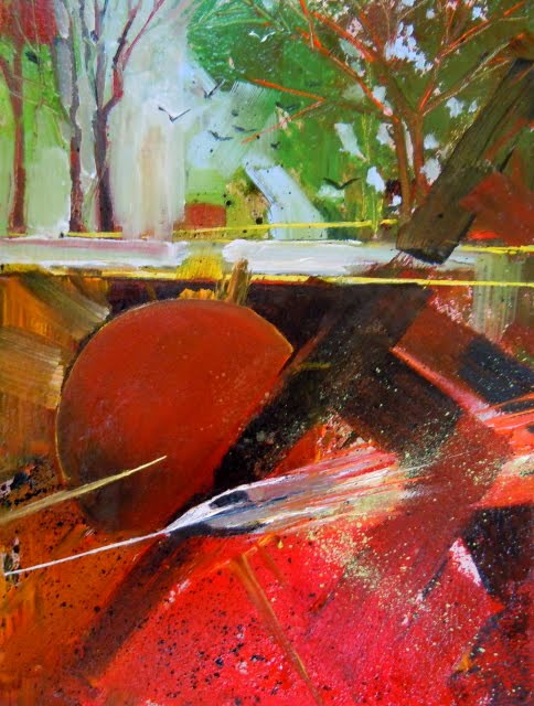 """""""Other World Abstraction  oil painting"""" original fine art by Robin Weiss"""
