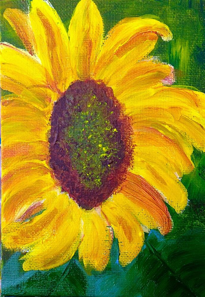 """Sunflower"" original fine art by Brenda Smith"