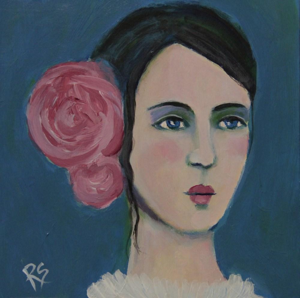 """April"" original fine art by Roberta Schmidt"