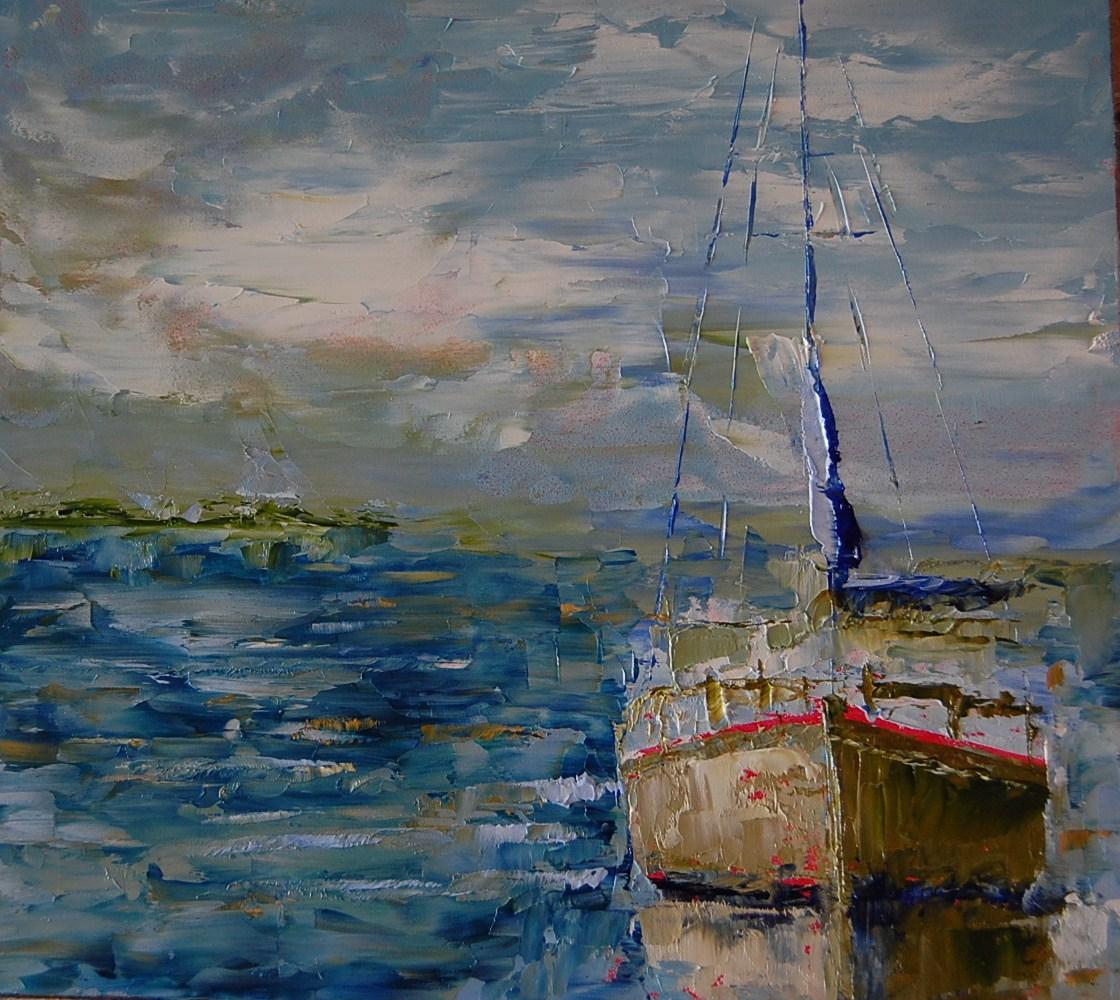 """New Day"" original fine art by Deborah Harold"