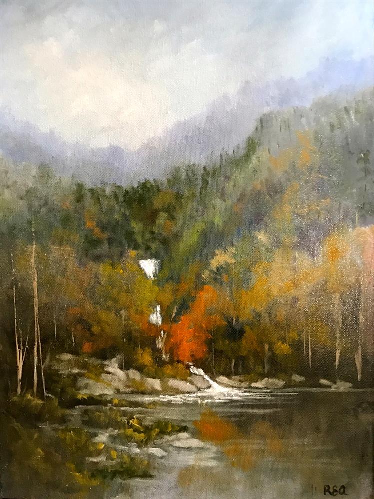 """water fall"" original fine art by Betty Argiros"