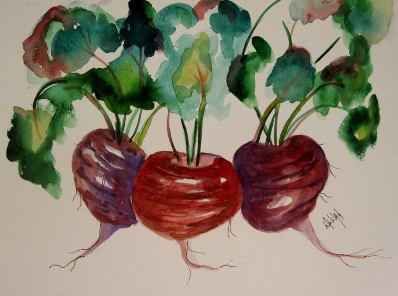 """""""Beets No. 2"""" original fine art by Delilah Smith"""