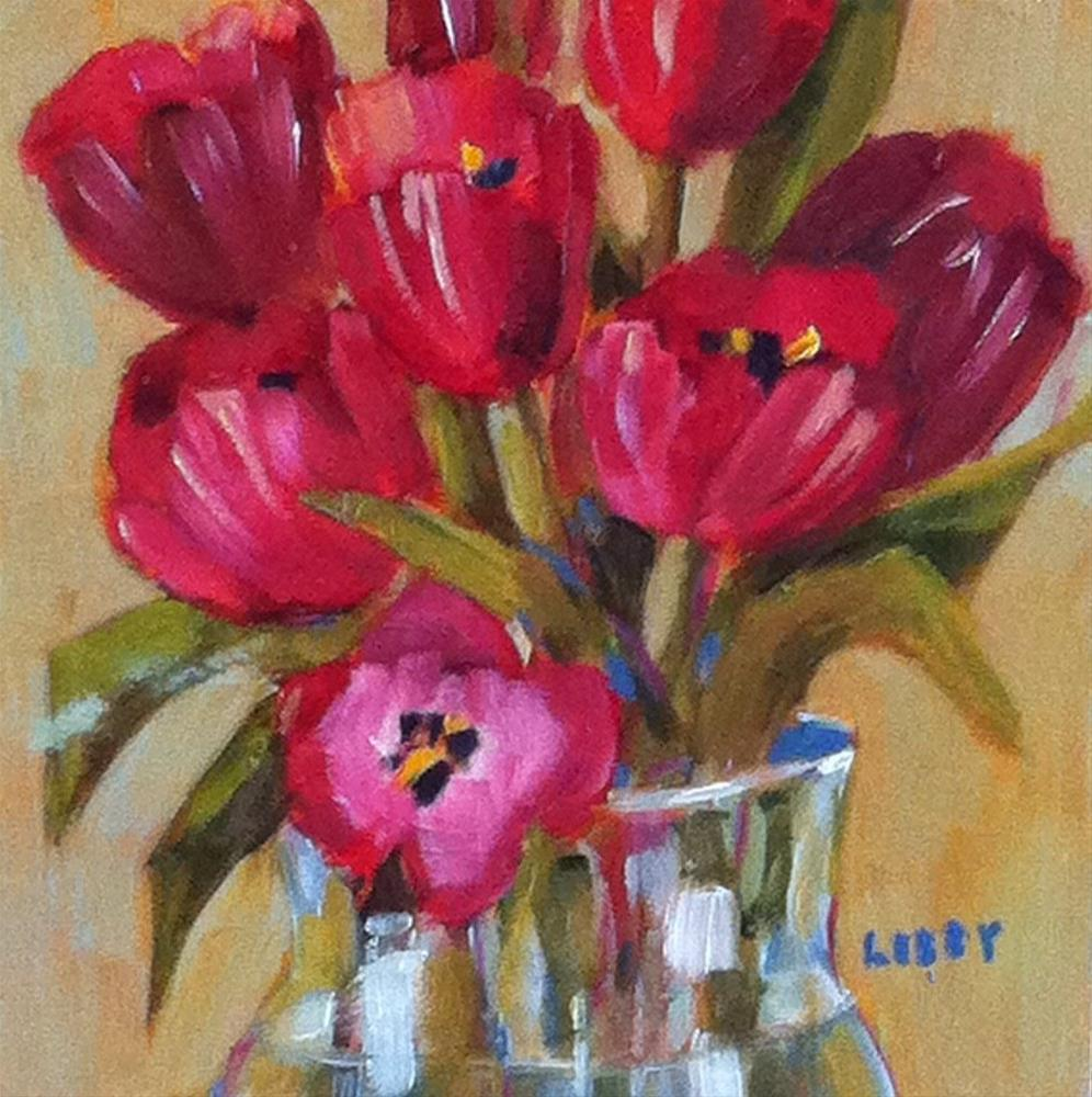 """""""Red Enough"""" original fine art by Libby Anderson"""