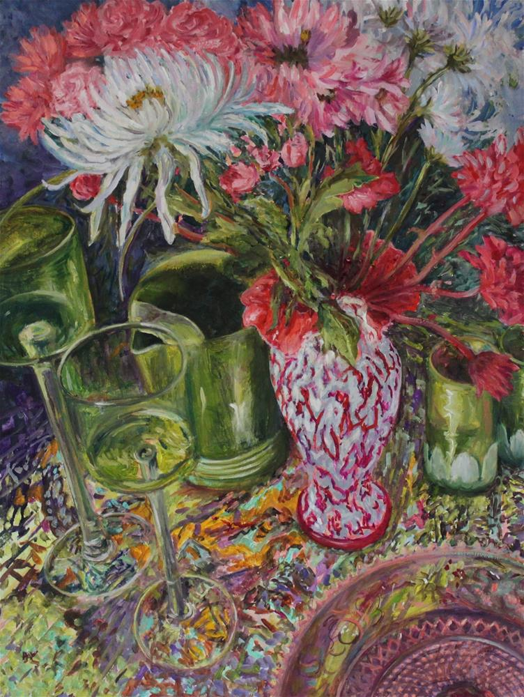 """Floral Cantata"" original fine art by barbara yongue"