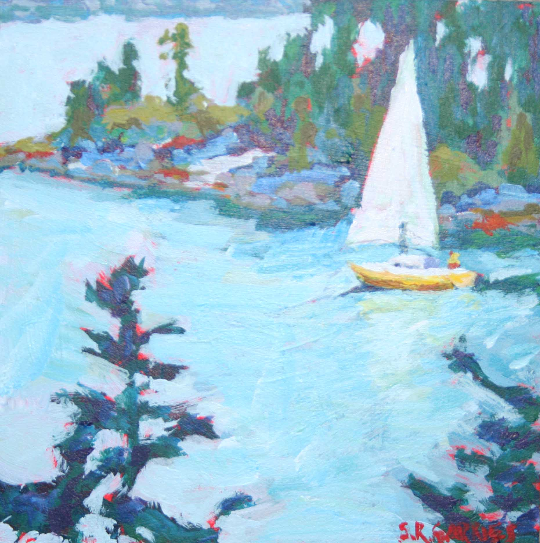 """twin island view"" original fine art by Shelley Garries"