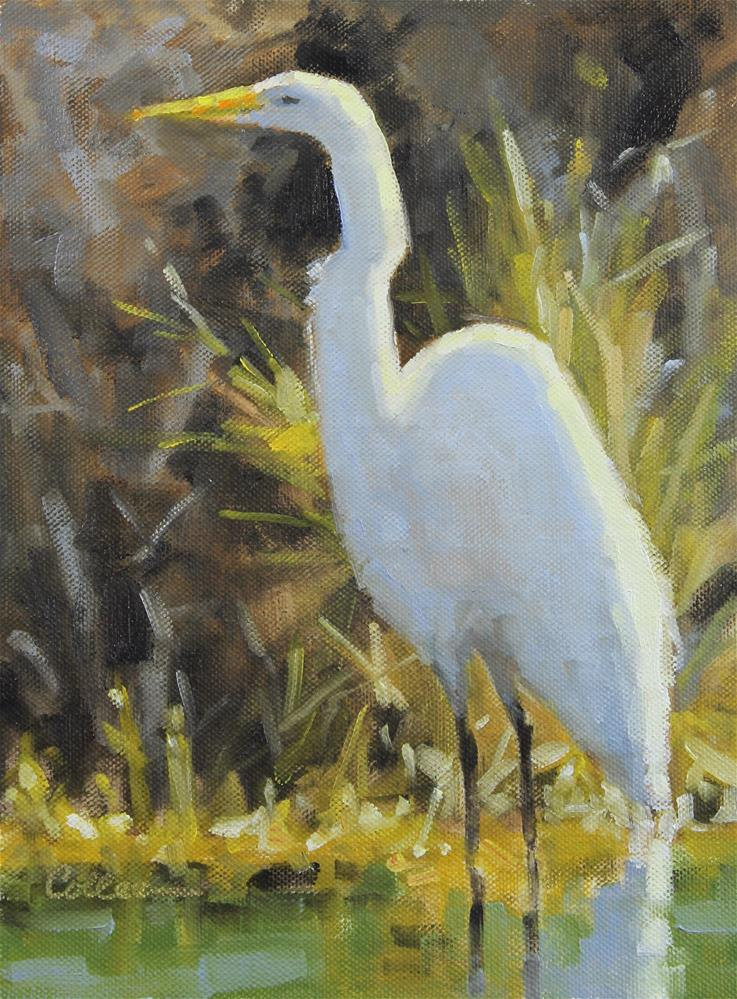 """""""Waiting for Fish"""" original fine art by Colleen Parker"""