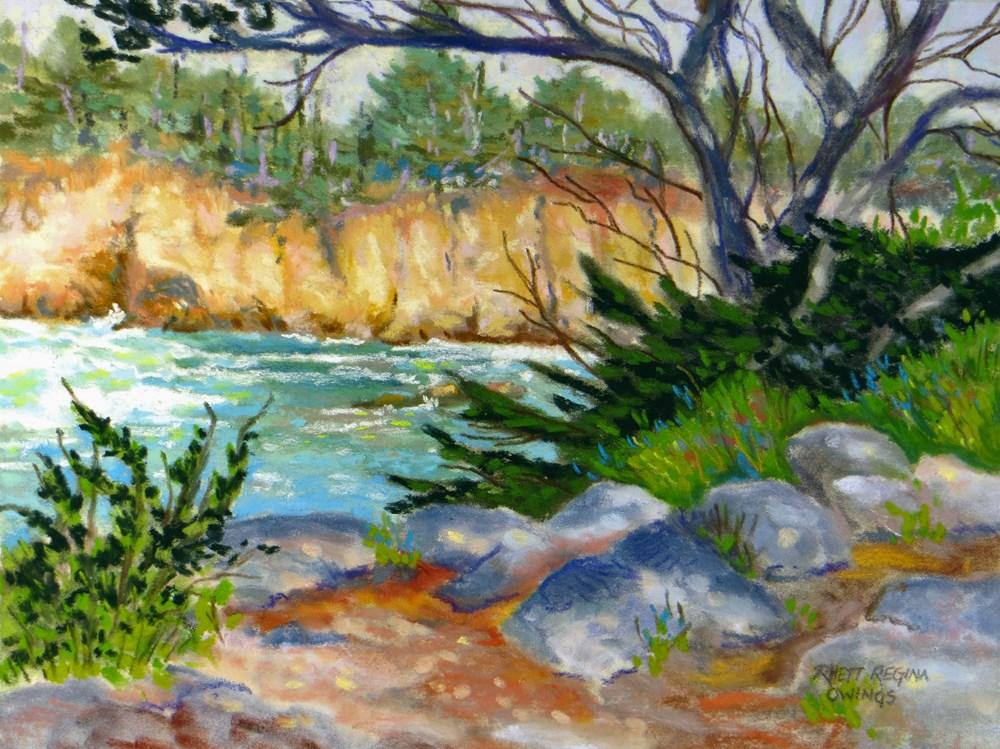 """Point Lobos View"" original fine art by Rhett Regina Owings"