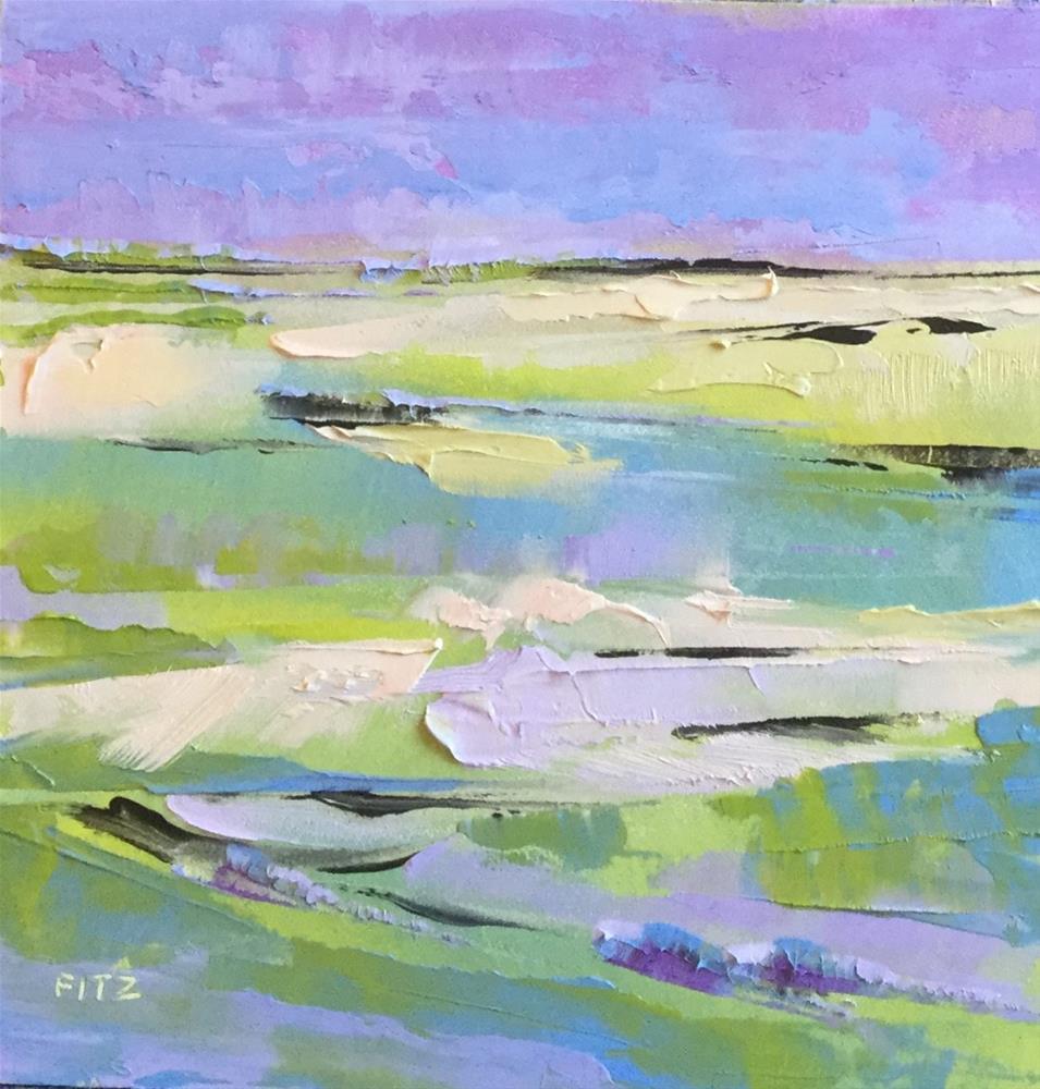 """""""Impasto Seascape Study 1"""" original fine art by Charlotte Fitzgerald"""