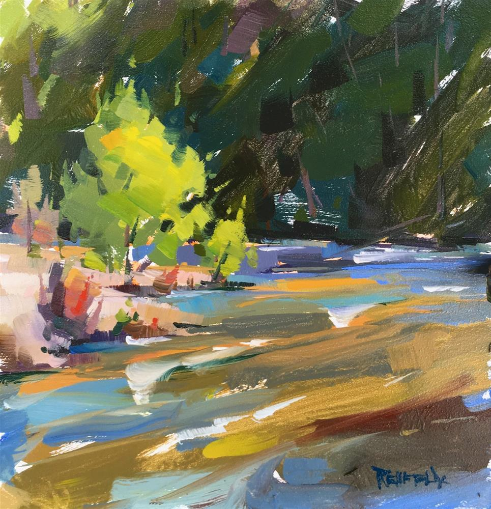 """Muddy Hood River"" original fine art by Cathleen Rehfeld"