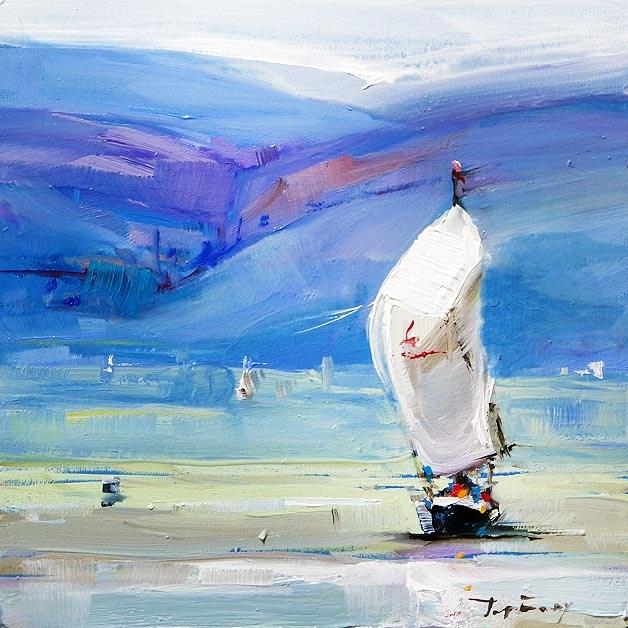 """Lake Fun"" original fine art by Jurij Frey"