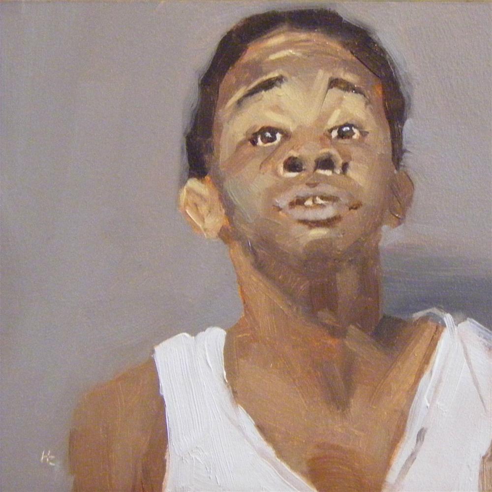 """""""FACE IT #34"""" original fine art by Helen Cooper"""