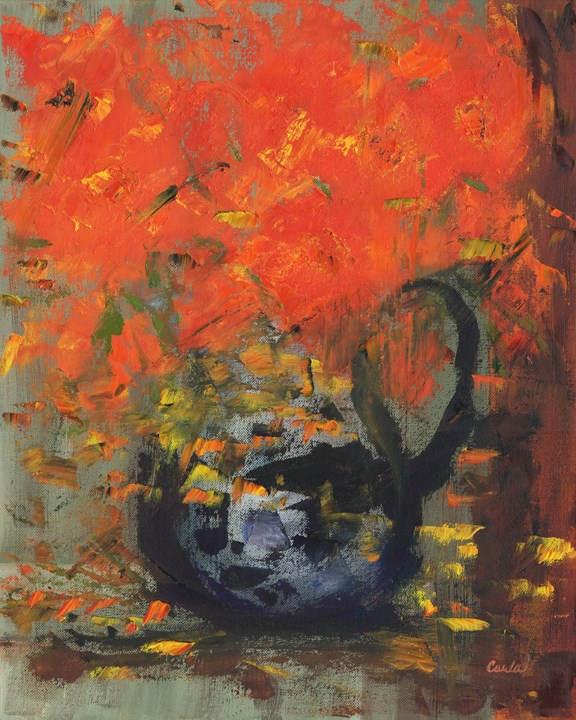 """Fresh Flowers"" original fine art by Carla Hefley"