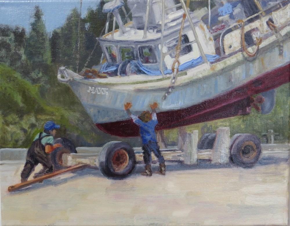 """Docking the Maxx"" original fine art by Richard Kiehn"