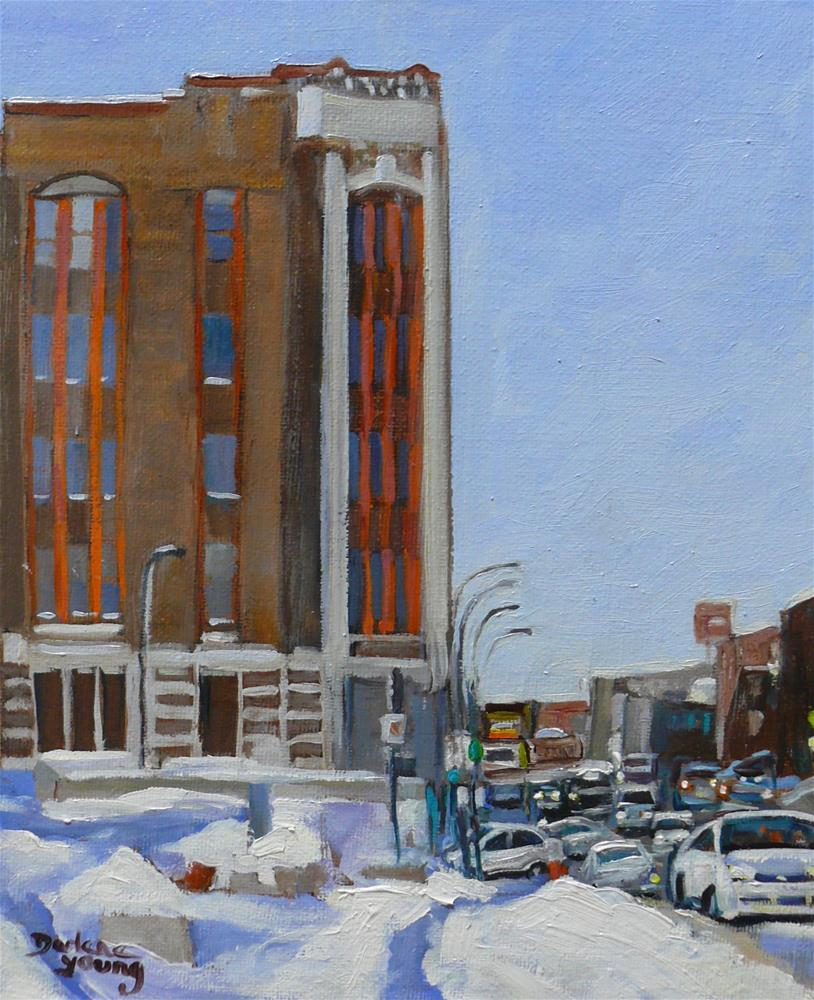 """973 Montreal Street Scene, Van Horne, 8x10, oil on board"" original fine art by Darlene Young"