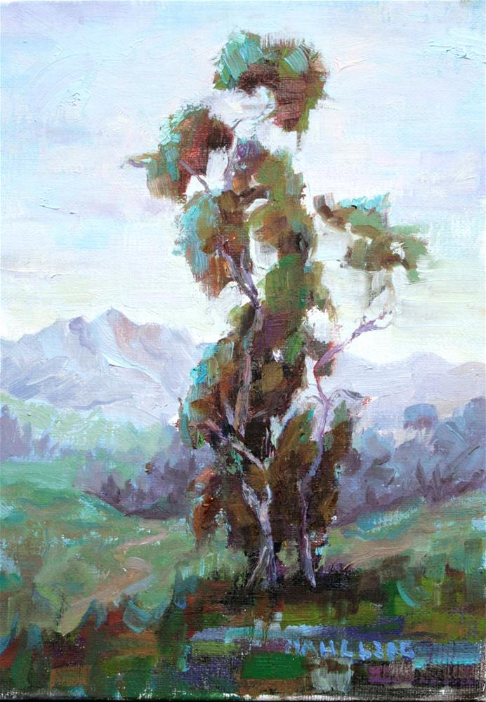 """Eucalyptus Cool"" original fine art by Cynthia Mahlberg"