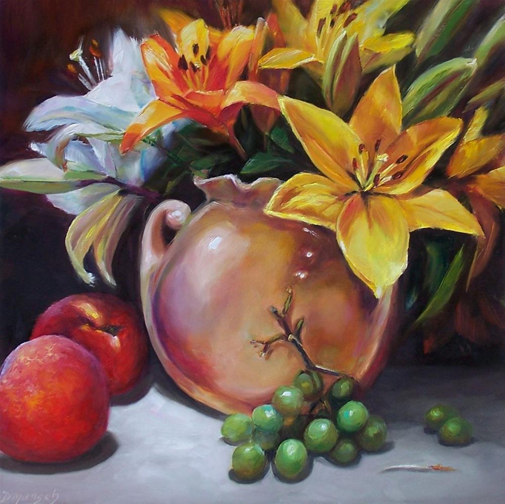 """""""Lily Bouquet"""" original fine art by Donna Munsch"""