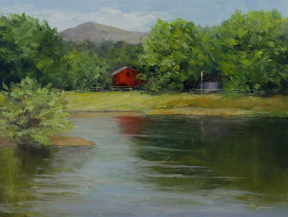 """Across the Pond"" original fine art by Nelia Harper"