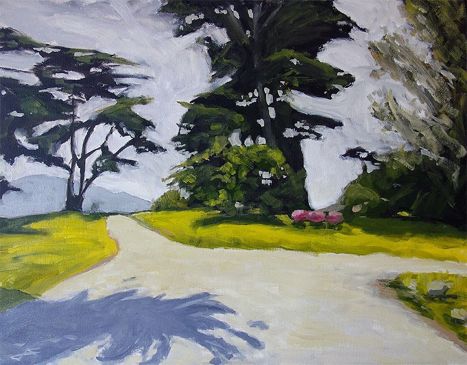 """Park Crest"" original fine art by J. Farnsworth"