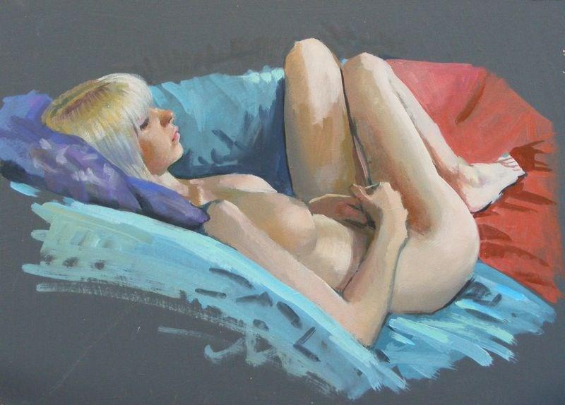 """Small nude"" original fine art by Peter Orrock"