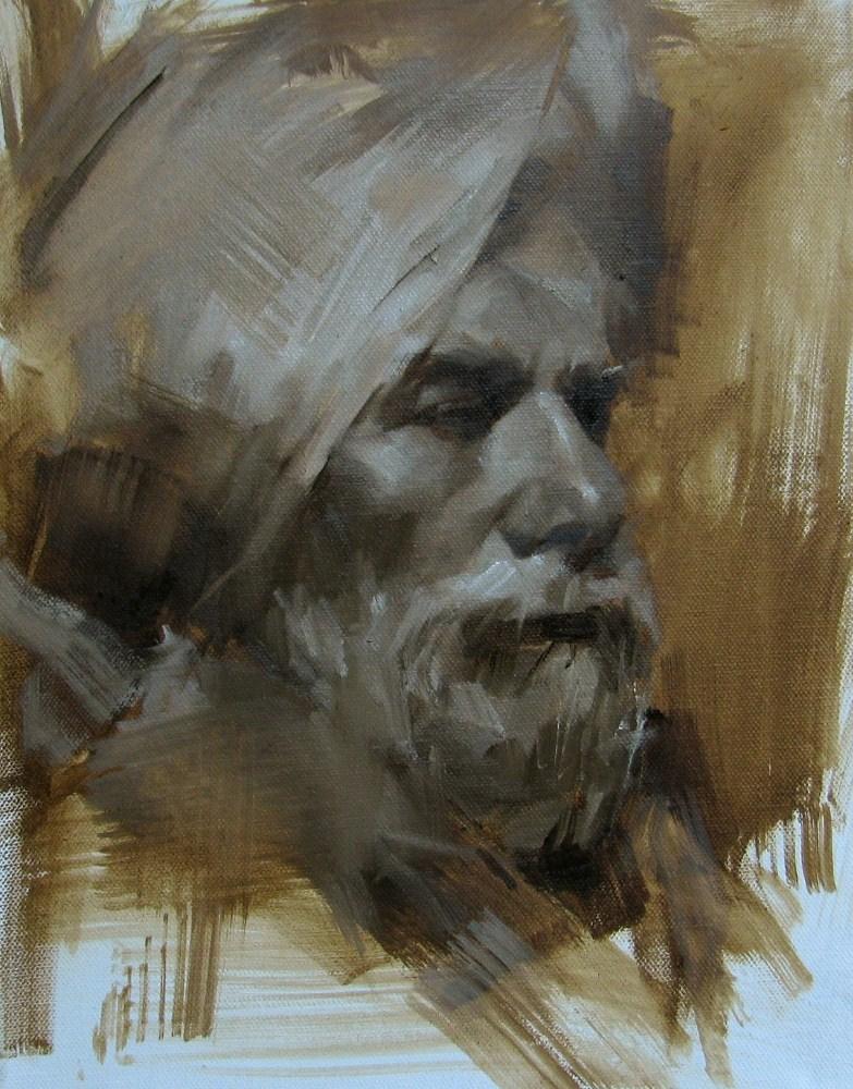 """Head Study 062312"" original fine art by Qiang Huang"