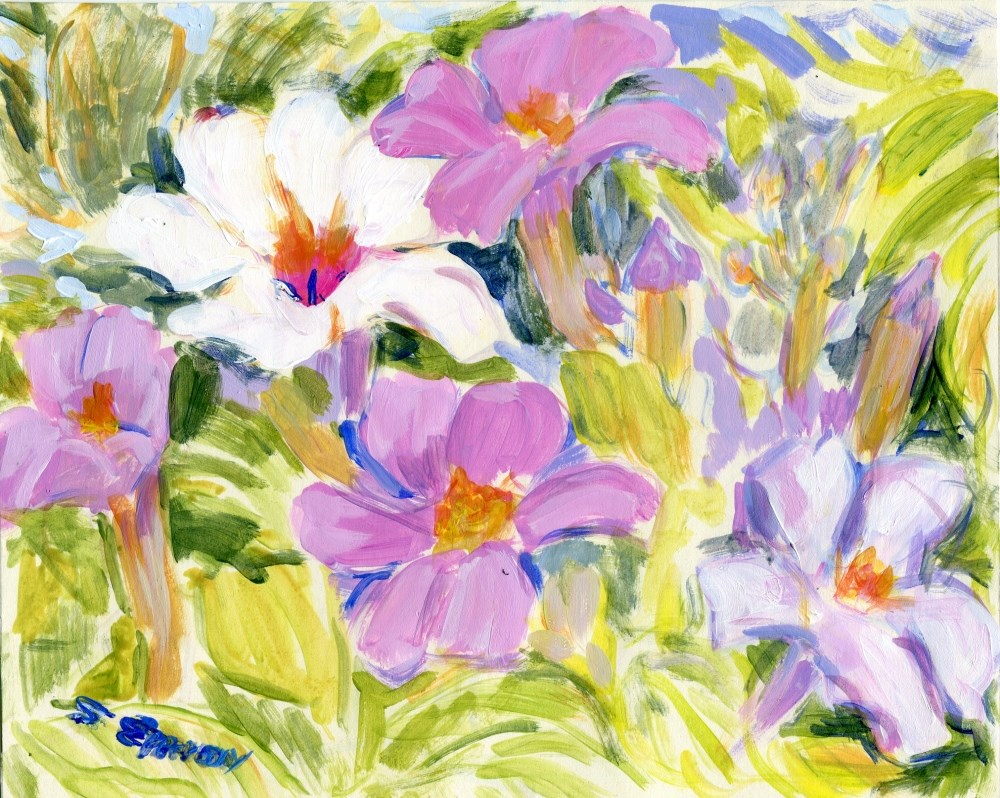 """""""Bowers of Flowers"""" original fine art by Stanley Epperson"""