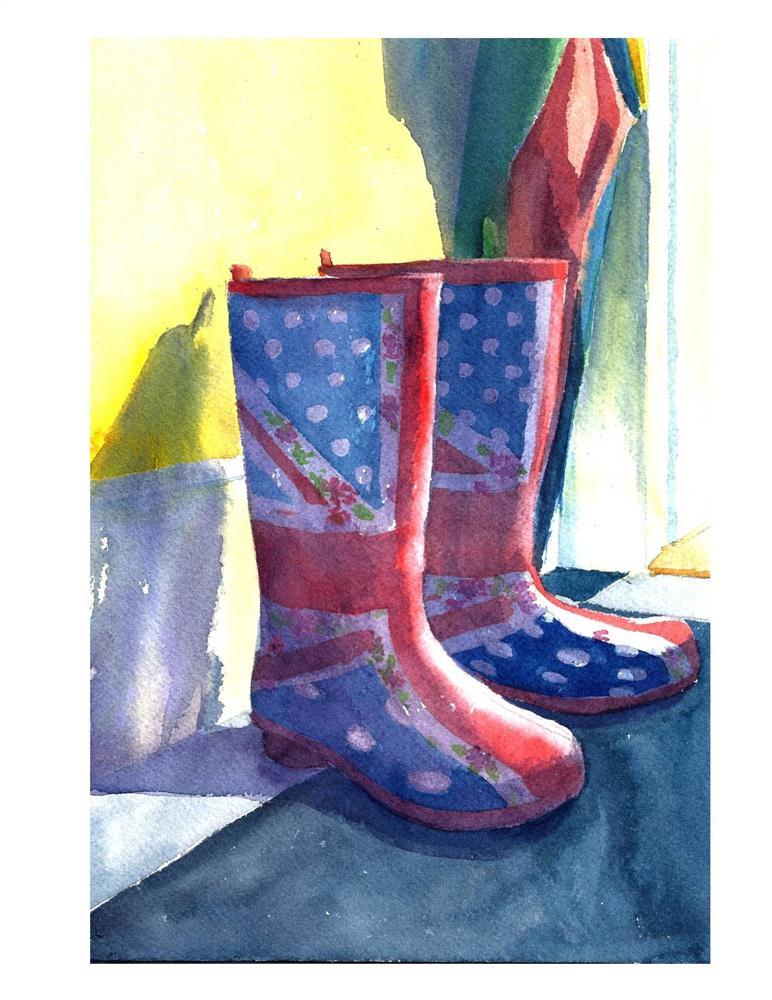 """""""Bri's Wellies"""" original fine art by Suzanne Woodward"""