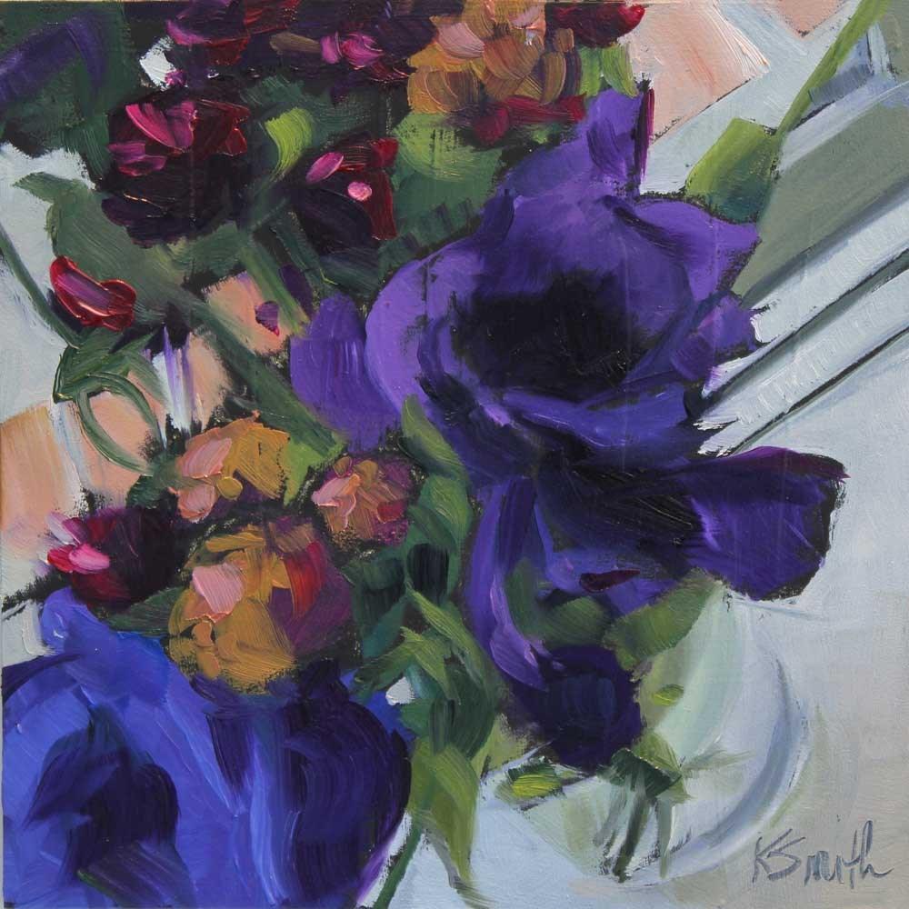 """thinking of you"" original fine art by Kim Smith"