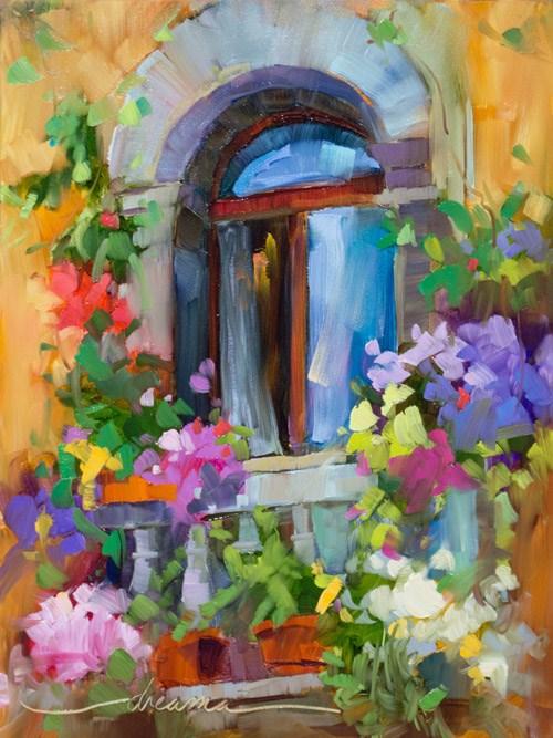 """""""Bello Balcony"""" original fine art by Dreama Tolle Perry"""