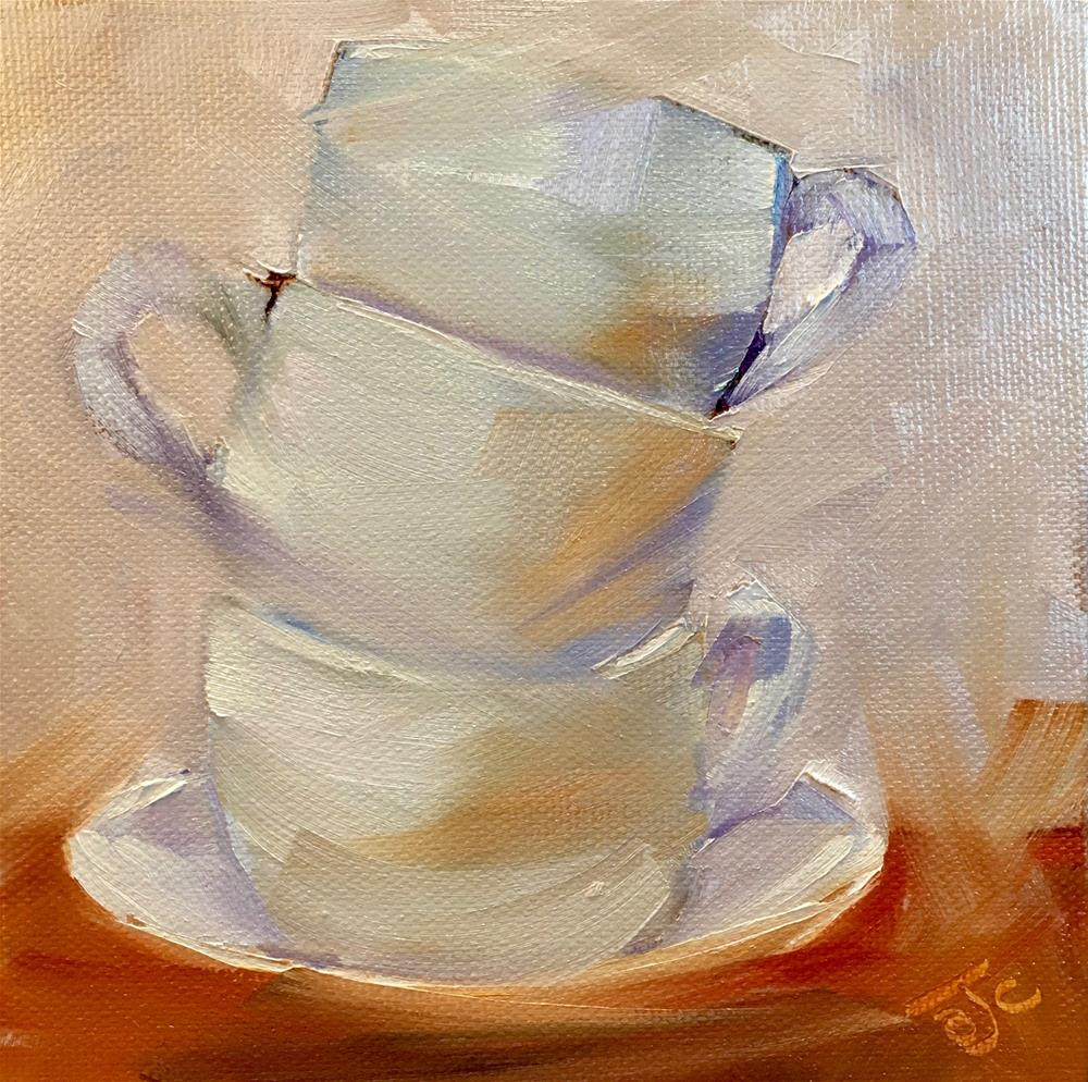 """Cups Challenge"" original fine art by Bobbie Cook"