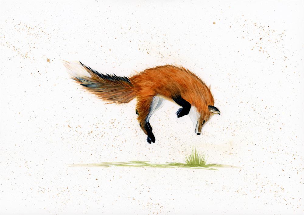 """""""Jumping Jack"""" original fine art by Helen Kuhn"""