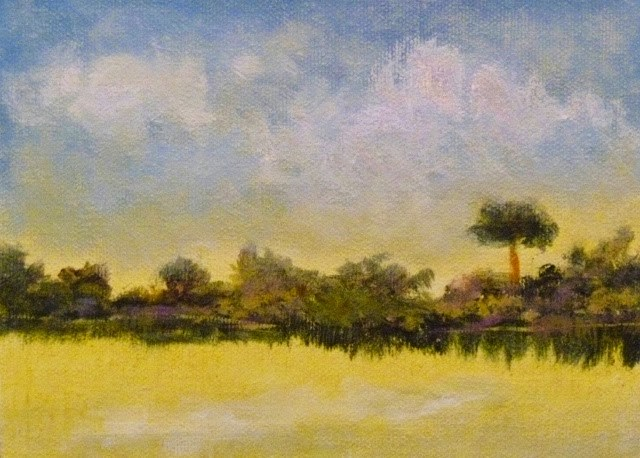 """Quiet Sunset"" original fine art by Jo-Ann Sanborn"