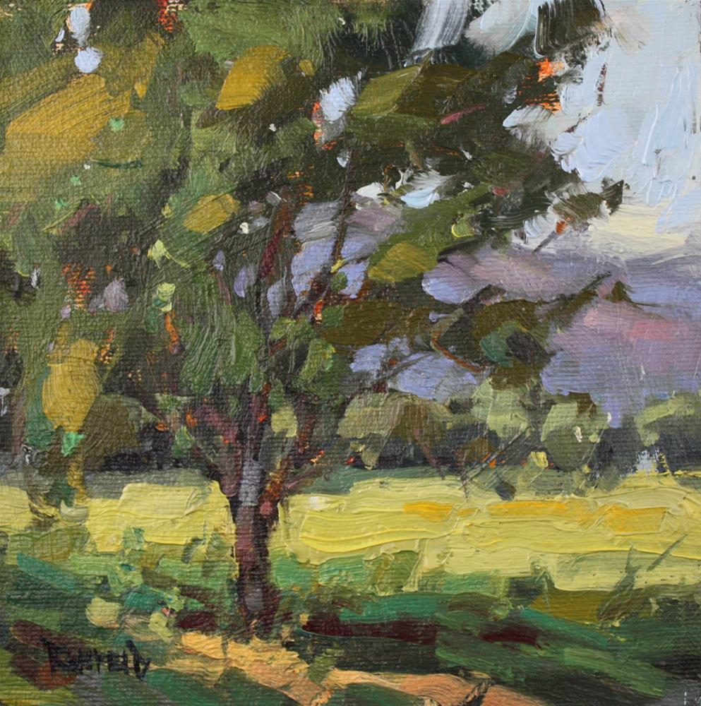 """Cherry Tree in The Columbia Gorge"" original fine art by Cathleen Rehfeld"