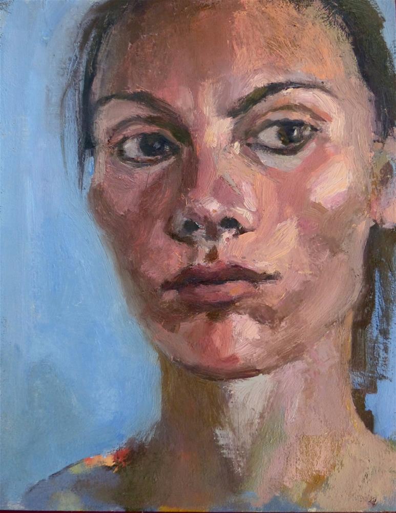"""Self-portrait#8"" original fine art by Katya Minkina"