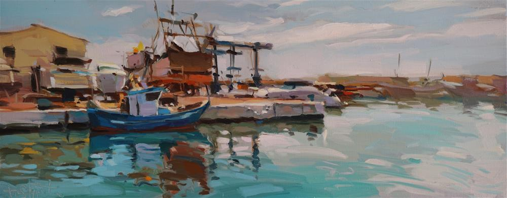 """Quiet port"" original fine art by Víctor Tristante"