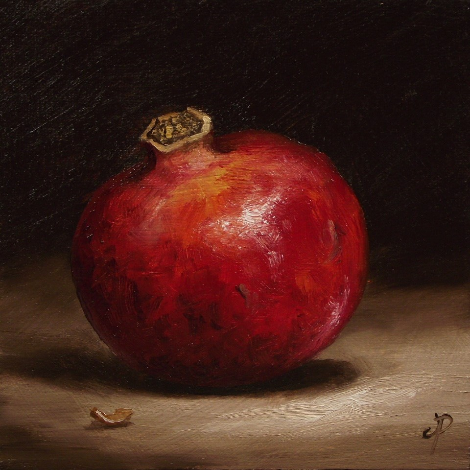 """Pomegranate"" original fine art by Jane Palmer"