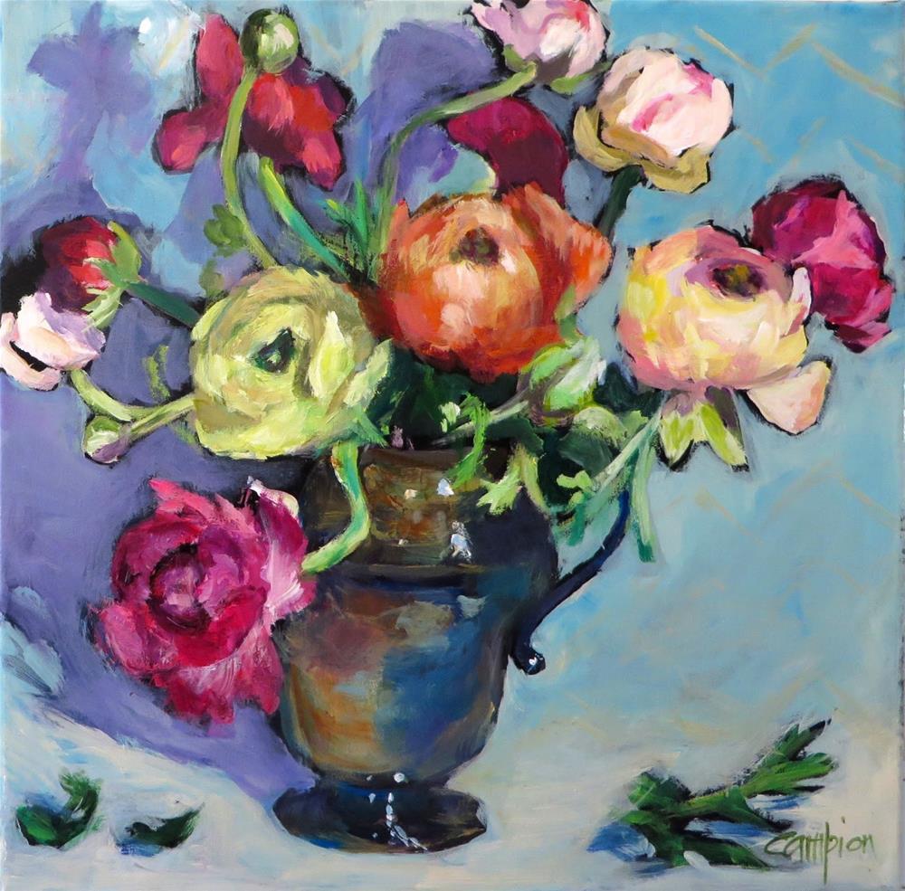 """897 Confetti Blooms"" original fine art by Diane Campion"
