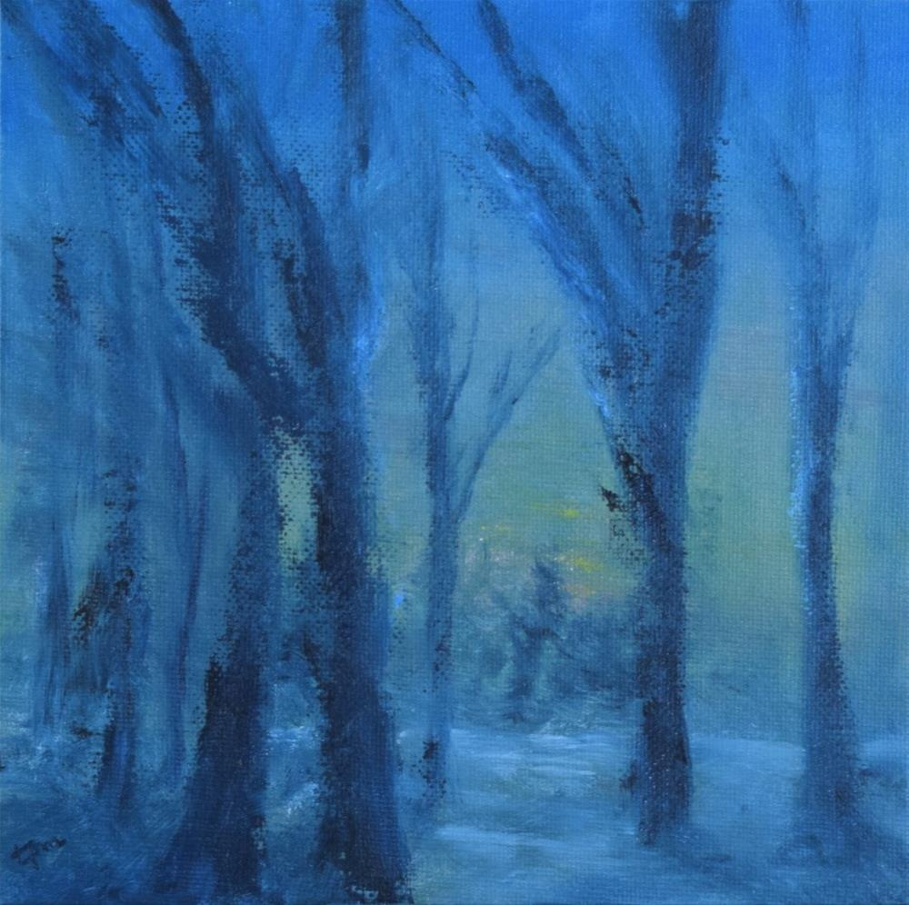 """January Thaw"" original fine art by Tisha Mark"