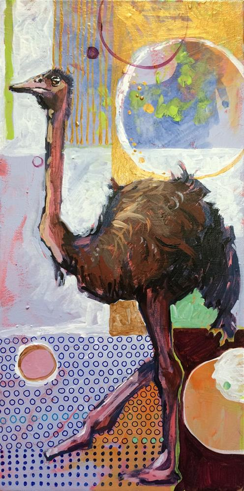 """Ostrich Games"" original fine art by Teddi Parker"
