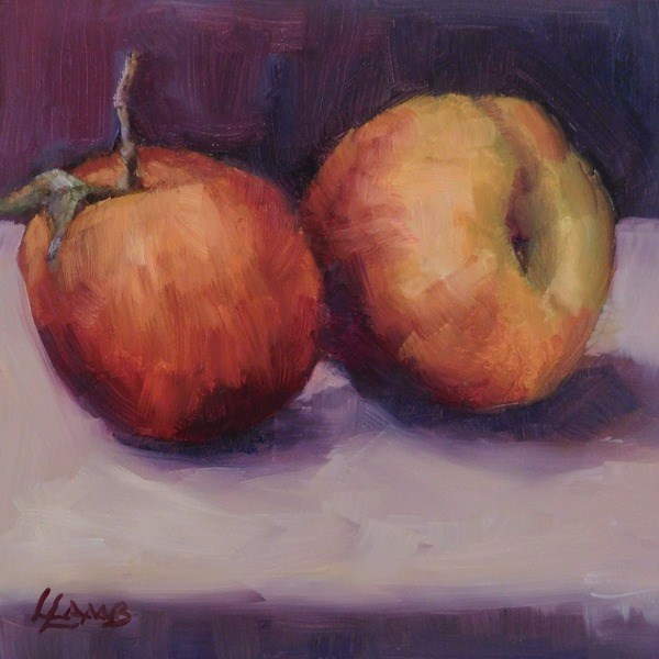 """""""Peachy"""" original fine art by Lori L. Lamb"""