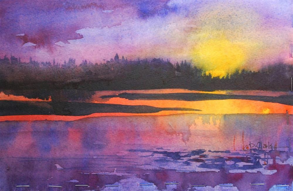 """""""Reflections, 7 x 10 watercolor landscape"""" original fine art by Donna Pierce-Clark"""