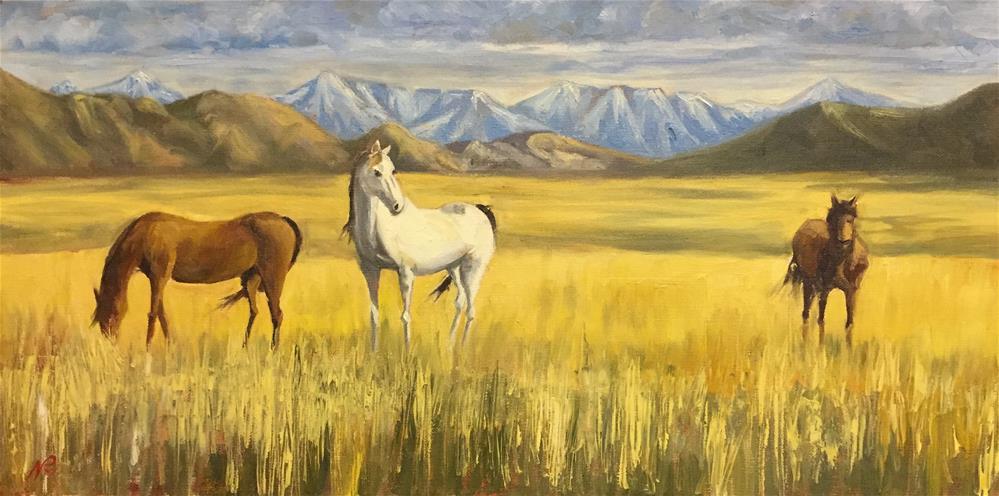 """Horses"" original fine art by Natasha Ramras"