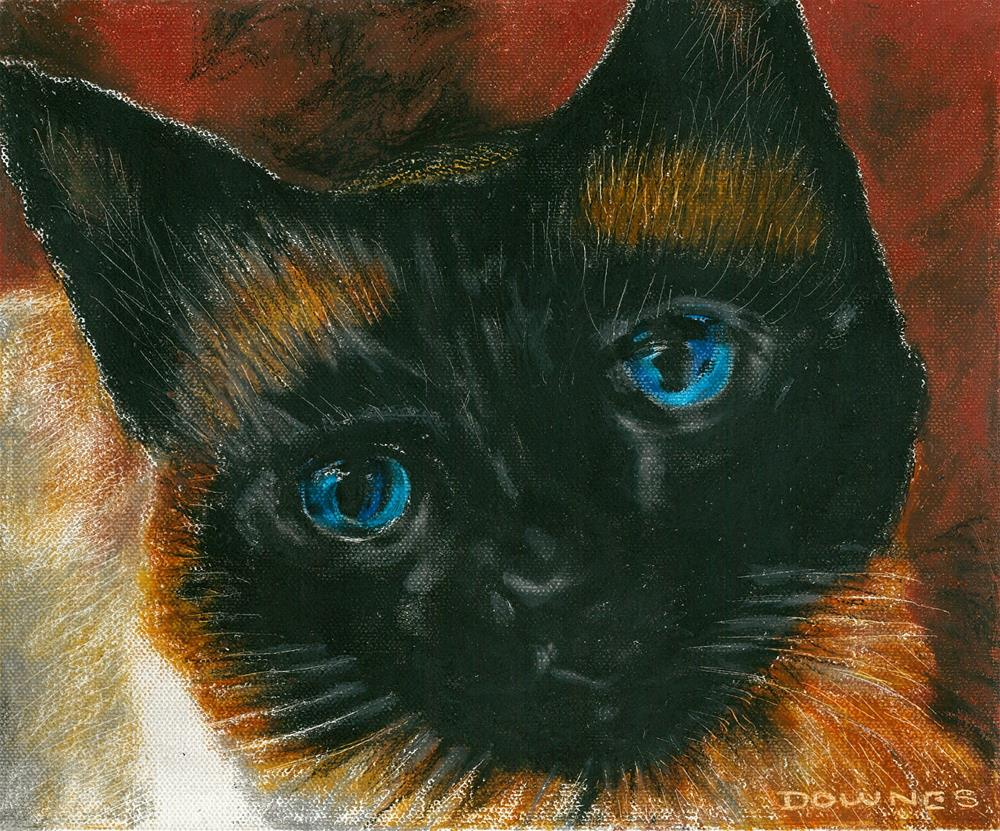"""141 CAT 6 CHARCOAL"" original fine art by Trevor Downes"