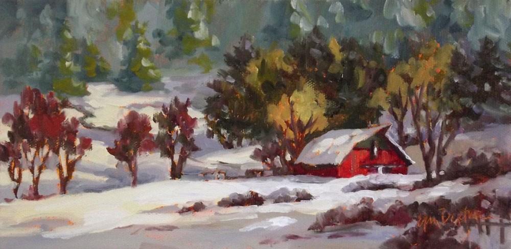 """""""Snowy Blanket"""" original fine art by Erin Dertner"""